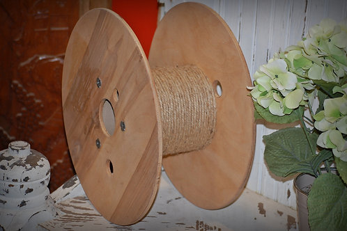 industrial spool, table top, display, wedding, rental