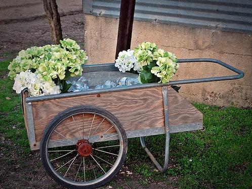 rustic, garden cart, decor, serving, wedding, party, rental