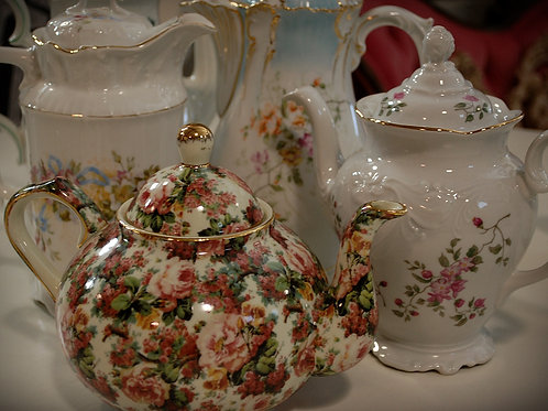 teapot, china, serving, decor, table top, event, rental