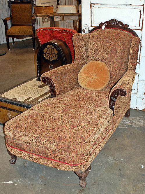 """Sophie"" Paisley Chaise Lounge"