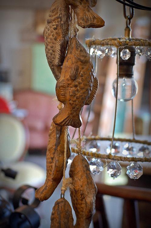 string of fish, porcelain, decorative, rental
