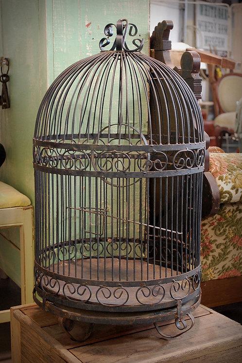 black bird cage, metal, decor, wedding, rental