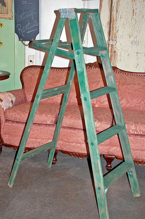 wood, a-frame, green, ladder, decor, wedding, rental
