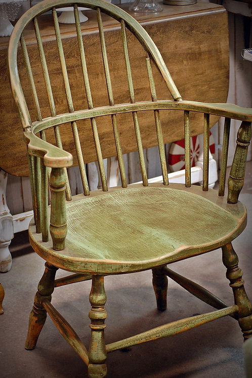 """""""Oscar"""" Green Windsor arm Chair"""