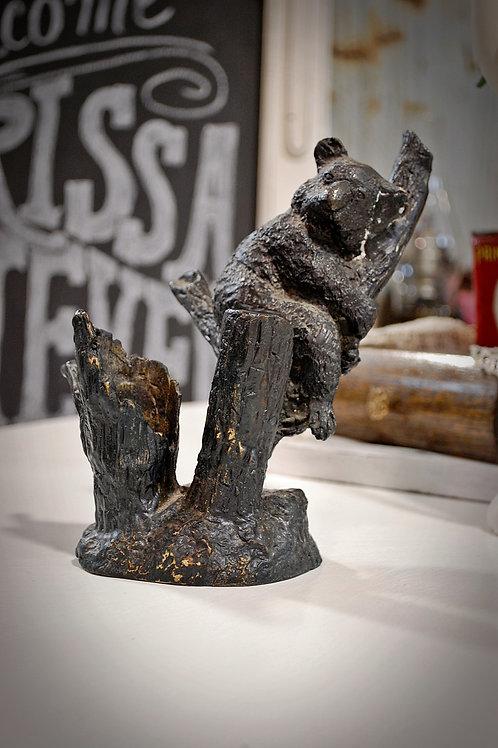 cast iron, statue, bear, table top, decor, rental
