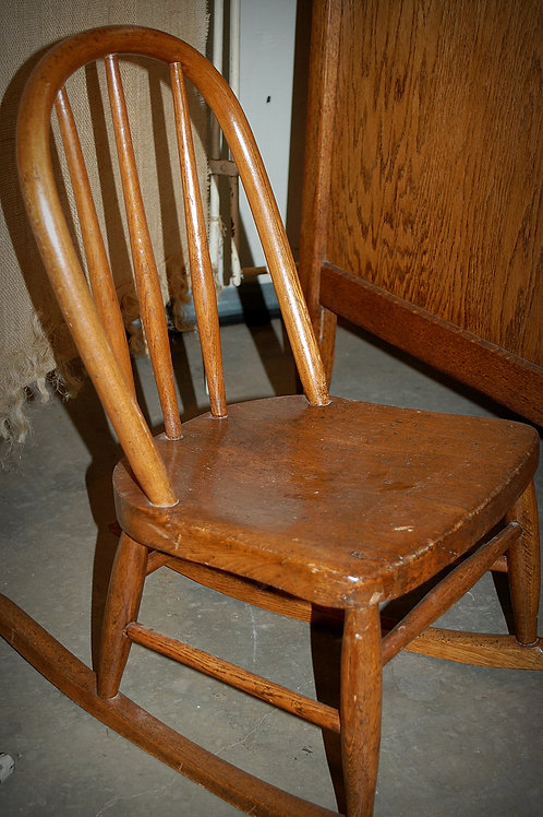 vintage child bentwood rocking chair babyshower party event rental