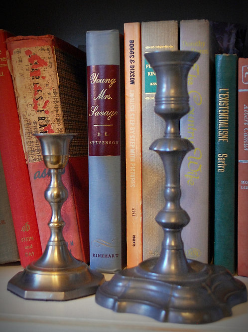 silver, pewter, candlestick, table top, decor, wedding, rental