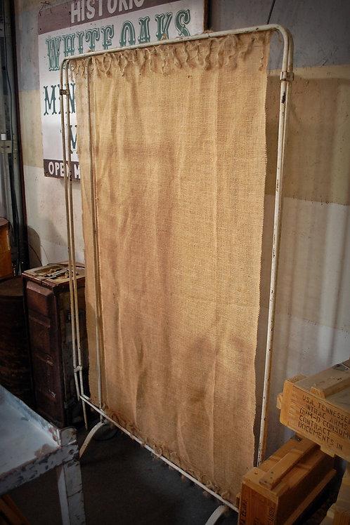 vintage, hospital room divider, metal, decor, prop, rental