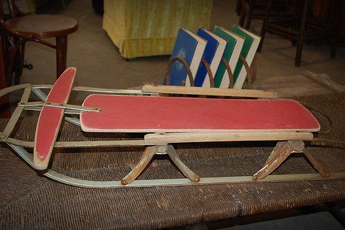 vintage snow sled decor child party event rental