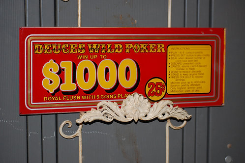 poker sign, decor, display, table, reception, party