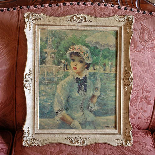 victorian, lady, painting, decor, staging, party, reception