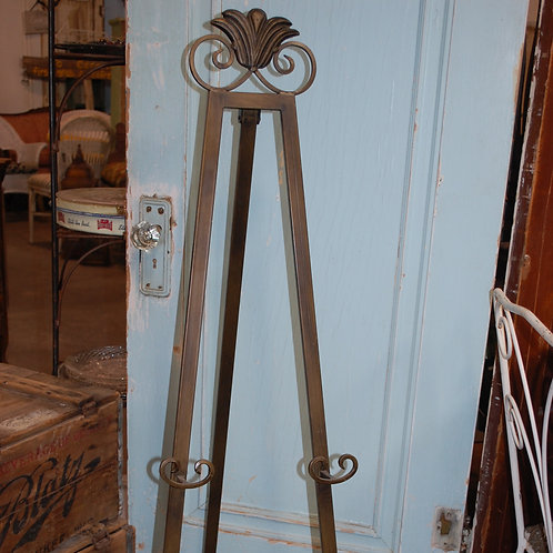floor easel with bronze finish