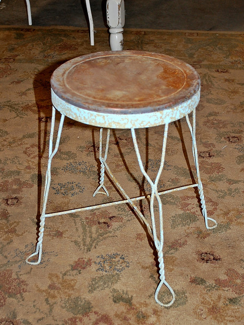 child stool metal blue seating cake display baby shower party event rental