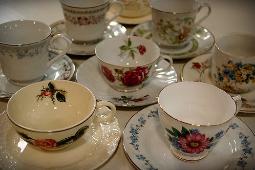 teacup, saucer, decor, table top, party, event, wedding, rental