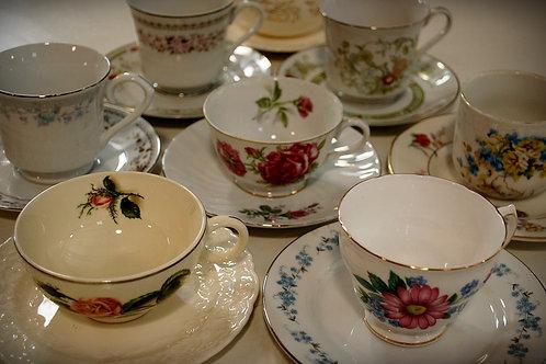 teacup, saucer, decor, table top, party, event, wedding, rental