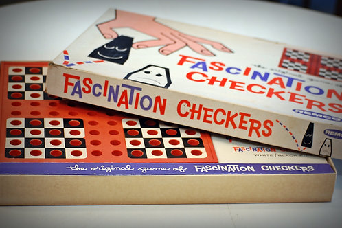 fascination checkers table top game vintage fun entertainment party event wedding decor