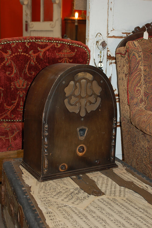 Gloritone radio, antique, wood, decor, rental, vintage