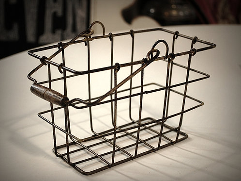 metal wire basket display serving