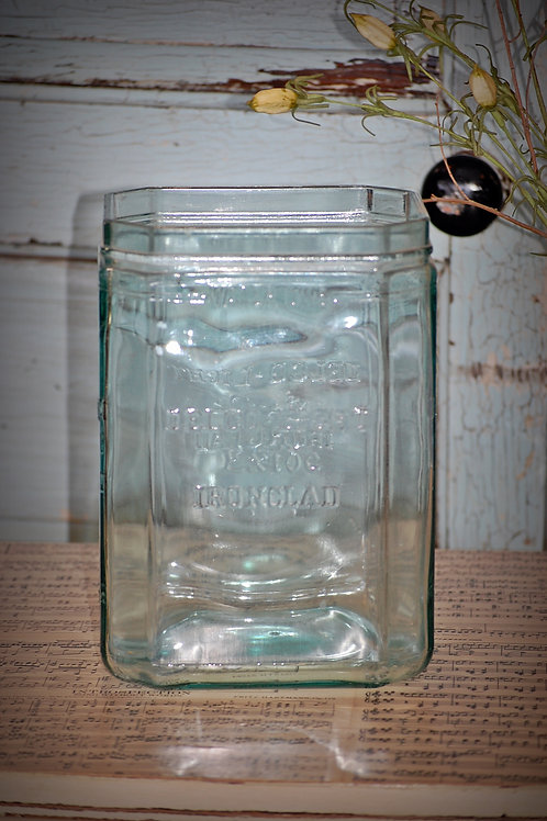 delco light exide ironclad, glass, container, serving, table top, wedding, decor
