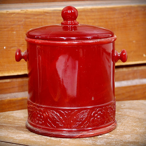 red, jar, lid, decor, serving