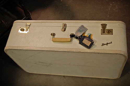 Lg. White Suitcase