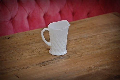 milk glass, pitcher, decor, table top, wedding