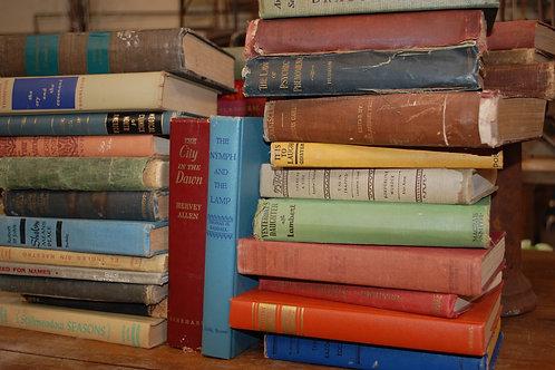hardback books, decor, prop, rental