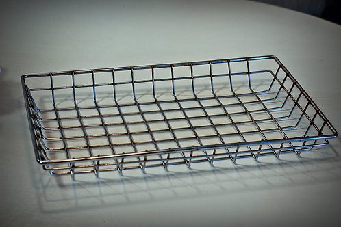metal, wire, basket, serving, decorative