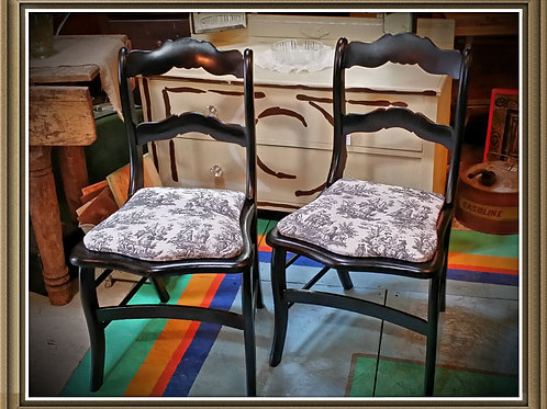 """Edith"" Black Parlor Chair"