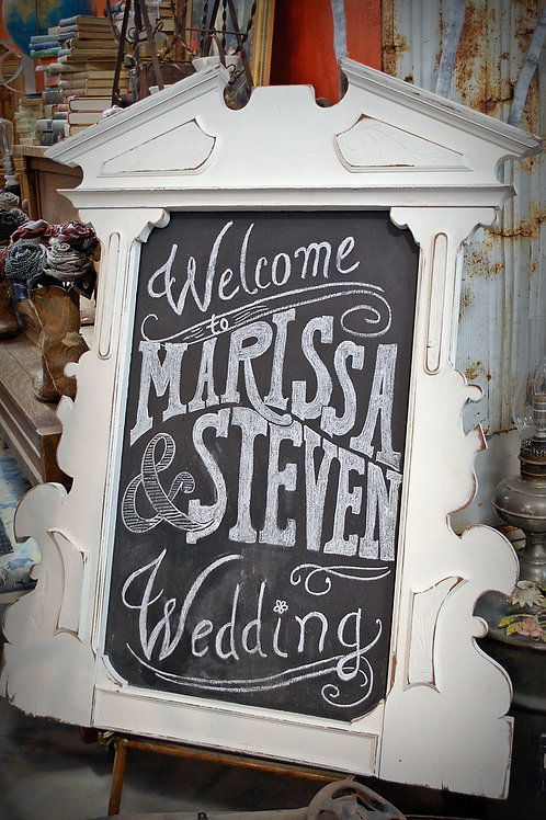 vintage vanity frame chalkboard party event wedding photography rental