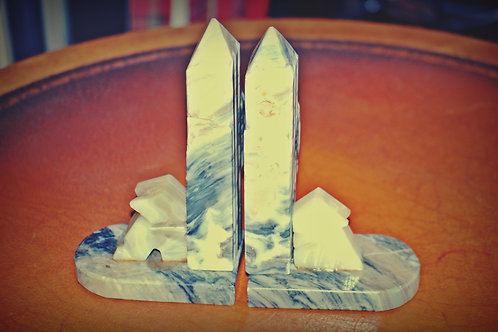 southwest, bookends, marble, decor, rental