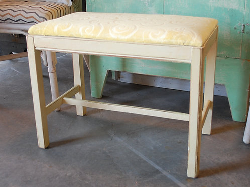 """Tess"" Yellow Piano Bench"