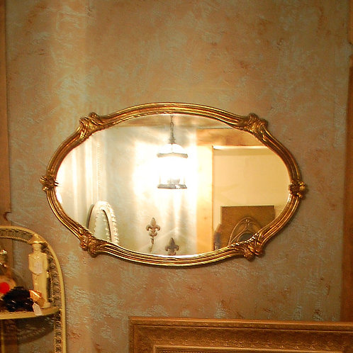 oval, gold, mirror, cake display, decor, reception