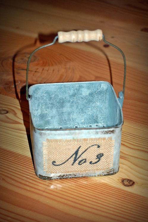 metal, bucket, decorative, serving,