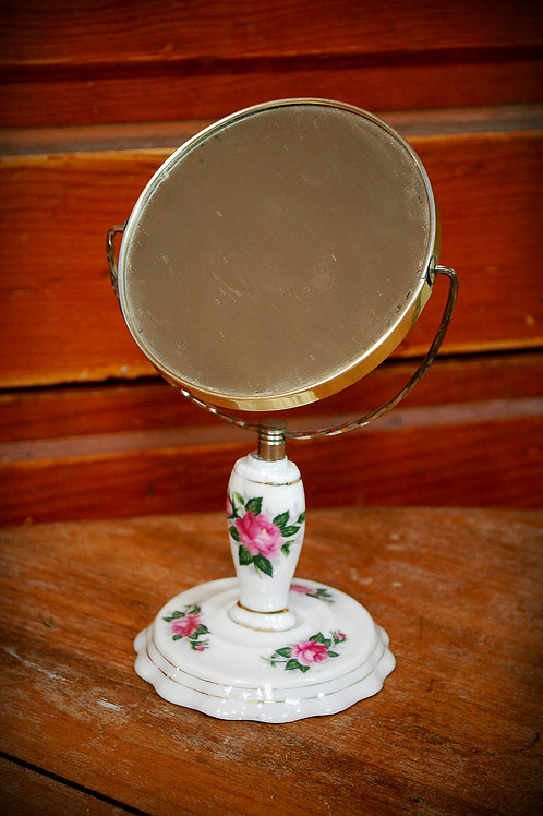 makeup mirror, roses, table top, decor, prop, rental