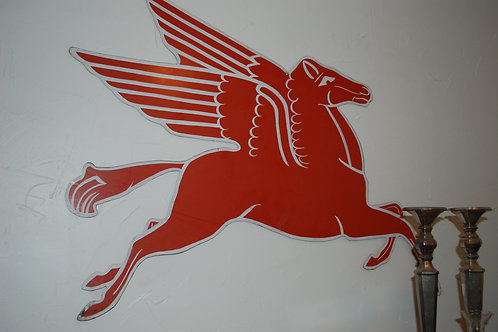 pegasus, sign, gas and oil, display, decor, theme party