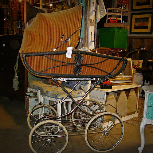 vintage baby buggy decor shower party event rentals