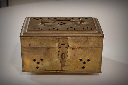 brass, keepsake, box, decor, prop, rental