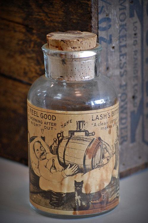 lash's bitters bottle, decor, table top