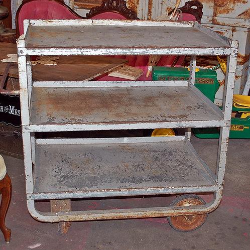 industrial cart, metal, shelves, serving, groom, wedding, rental