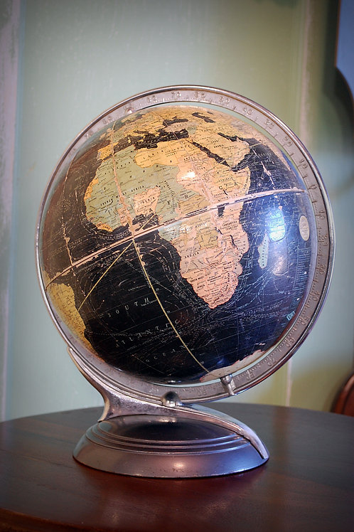 vintage, globe, table top, decor, prop, rental
