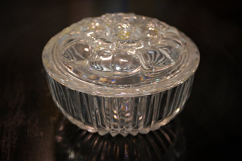 Candy dish, cut glass, floral, serving, table top, decor, rental, event
