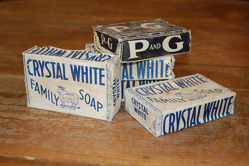 bar soap, crystal white brand, P&G brand, decor, bathroom, rental