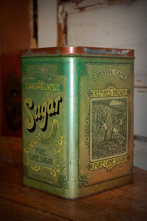 metal, sugar tin, kitchen, display, vessel