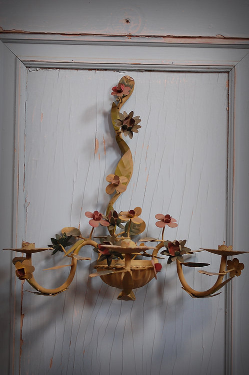 sconce, candle, french tole, lighting, prop, decor, event, rental