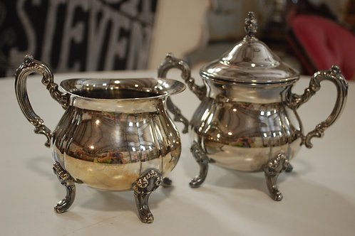cream & sugar, silver, serving, decor, table top, event, rental
