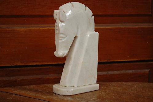 marble, horse, book end, statue, decor, table top, centerpiece, rental