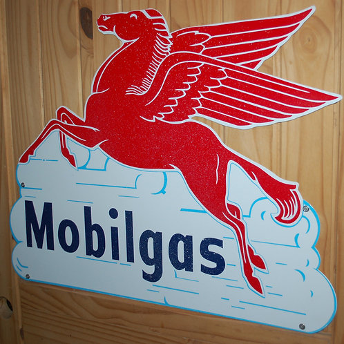 mobilgas, pegasus, sign, display, decor, theme party, gas and oil