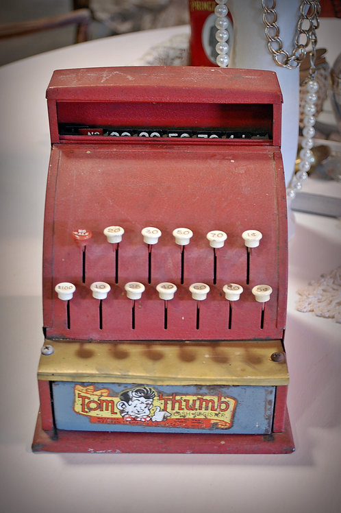 Toy cash register Tom Thumb decor party event baby shower photography rental