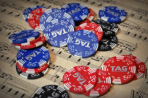 poker chips, table top, decor, rental